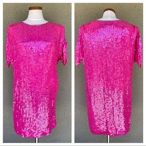 Vintage 80s sequin mini dress